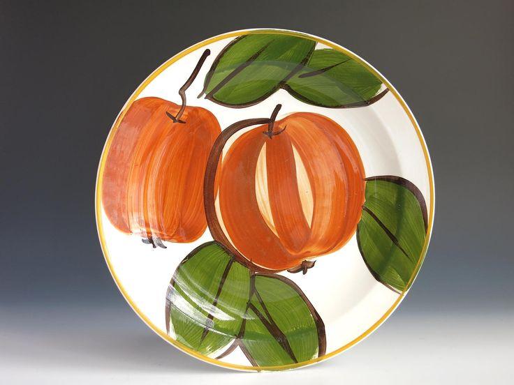 "Vera Neumann Pumpkin Dinner Plate - Vera Neumann Island Worcester Pumpkin Plate - Jamaican Jamaica Vera Large 10"" Plate - Orange Pumpkin by EightMileVintage on Etsy"