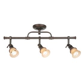 allen + roth 3-Light Specialty Bronze Fixed Track Light Kit