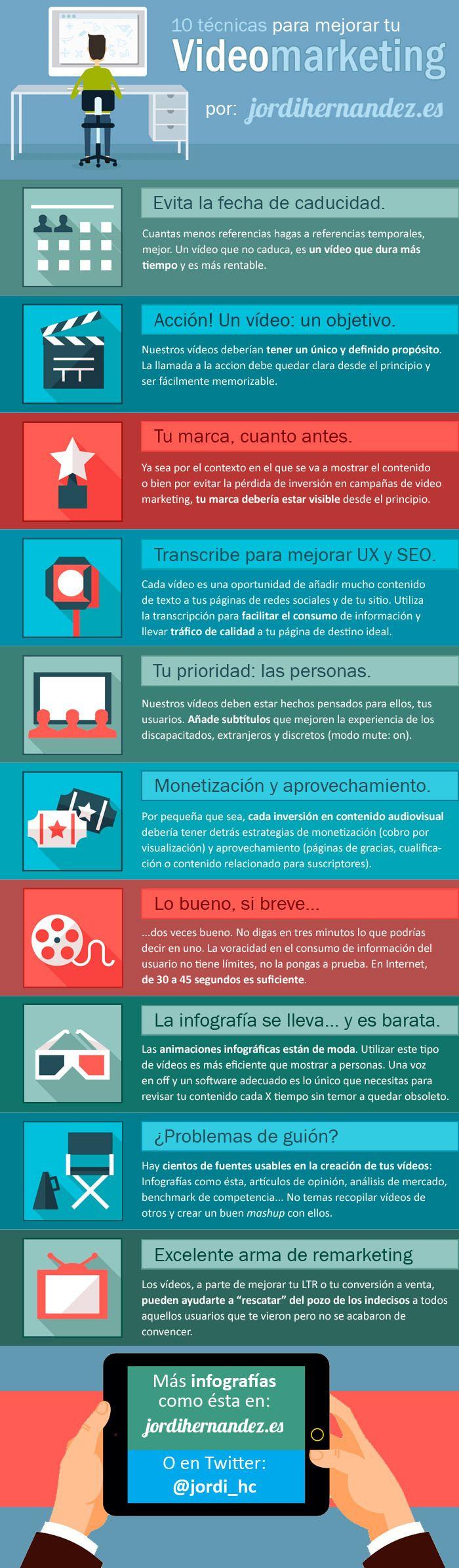 10 formas de optimizar tus campañas de vídeo marketing #infografia #marketing