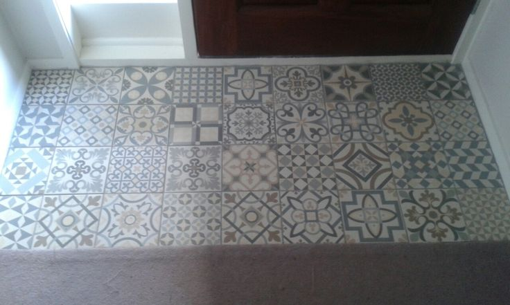 Entrance way - with Heritage Grey tiles from Gayafores.  So pleased with the result, nice to have some colour when coming in from outside.