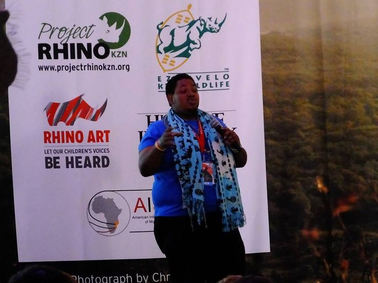 Peter Moll from Kenya (founder of Stand Up Shout Out) addressing our Rhino Warriors www.youthrhinosummit.com #wildlife #rhino