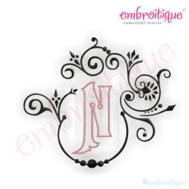 Embroidery Monogram Fonts