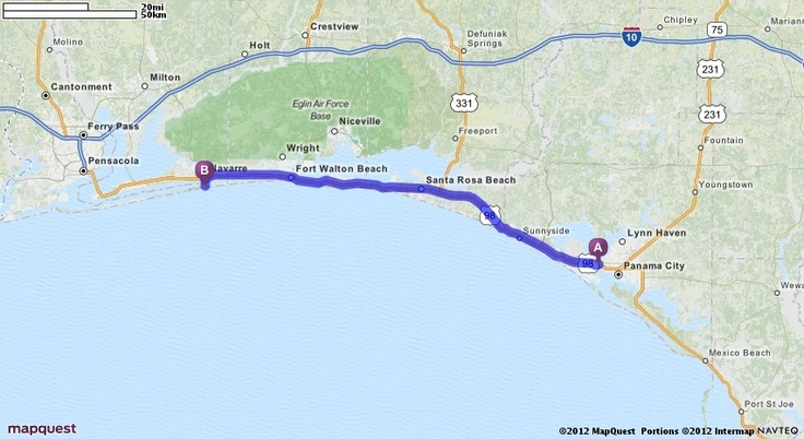 Pensacola Beach Florida Mapquest