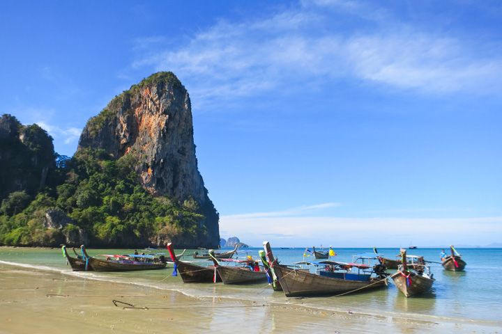The Beauty of Railay • Alex in Wanderland. A beautiful beach with limestone pillars and kayaking, known for rock climbing.