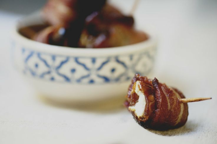 Bacon wrapped dates goat cheese