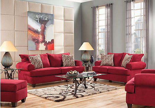 Brookhaven crimson 8 pc living room plus hdtv 1 for Find living room furniture