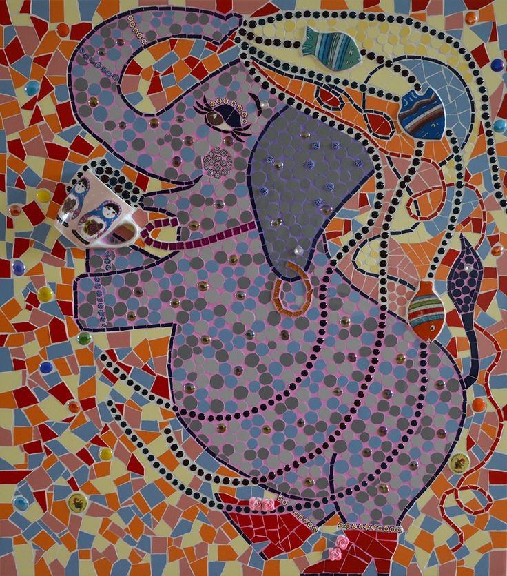 gekke vrolijke olifant viert feest!