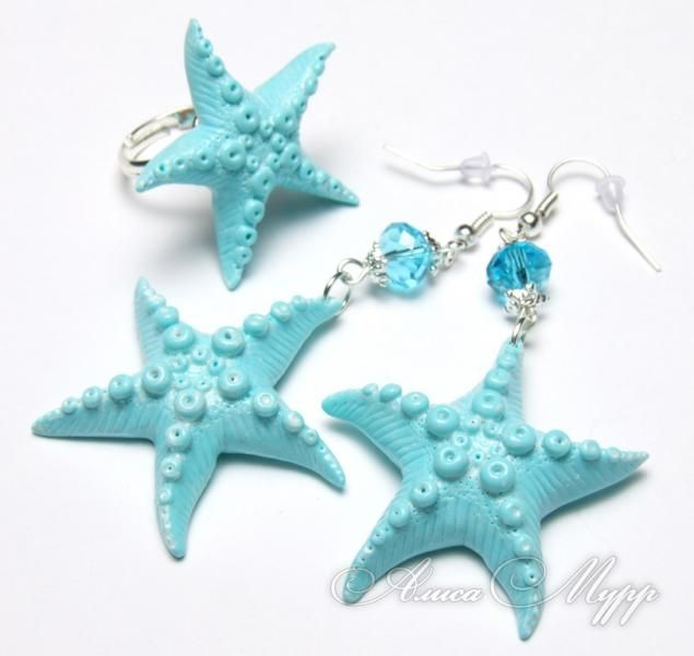 How to make a starfish component - (Russian, good pix but needs translation).  #Polymer #Clay #Tutorials