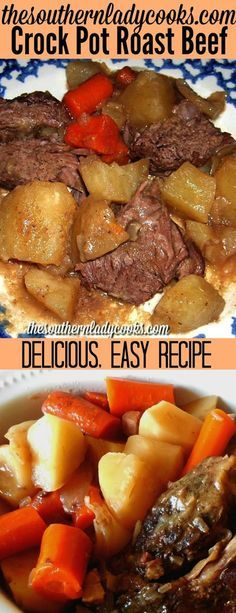 Crock pot roast beef is tender and easy to make. Just add all the potatoes, carr…   – Crock pot meal