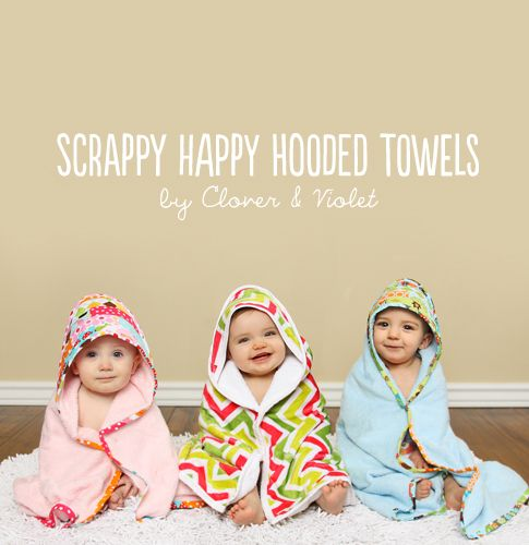 scrappy happy hooded towels / ann kelle--LOTS of great tutorials on this site