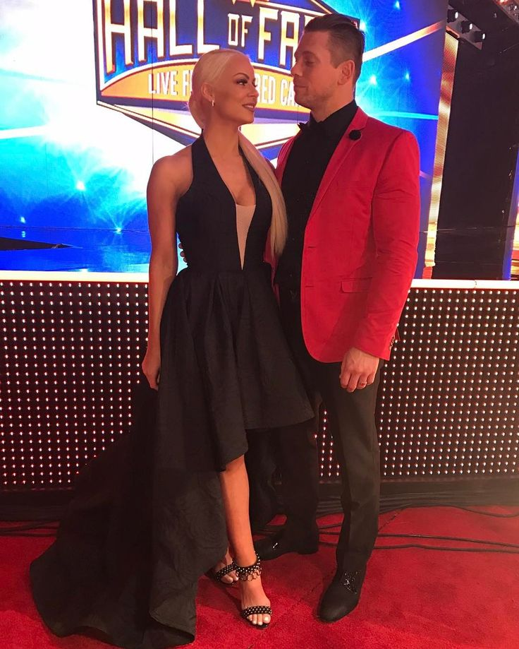 WWE Superstar The Miz (Mike Mizanin) and his wife Maryse Ouellet Mizanin at the 2017 WWE Hall of Fame ceremony in Orlando #WWE #WWEHOF #WrestleMania #wwecouples #TotalDivas