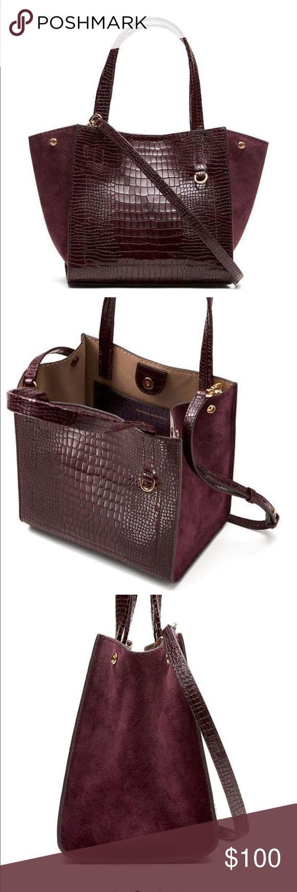 Banana Republic Handbag Brand New without tag Mini tote Burgundy color very stylish and elegant Banana Republic Bags Crossbody Bags