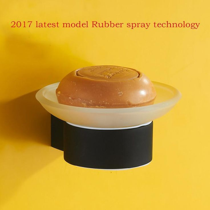Latest Model Rubber Spray Technology Soap Dish Holder W/ Black Spray Painting Strongest Bathroom Accessories