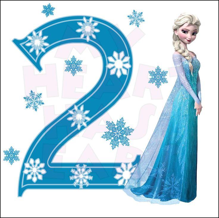 Disney's Frozen Elsa Birthday with number 2 INSTANT DOWNLOAD ...