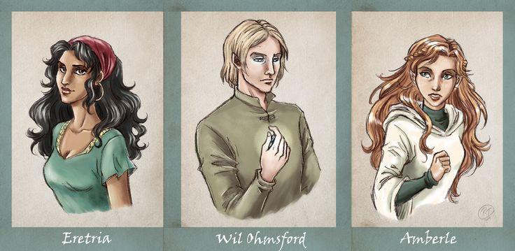 Elfstones of Shannara | Eretria, Will and Amberle | Artwork by Roberta