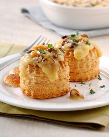 Pasteitjes Champignons en Kip Crème recept