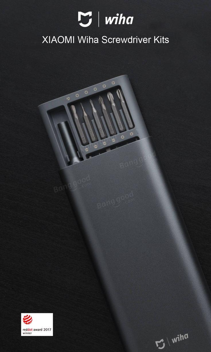 XIAOMI Wiha 25 in 1 Mehrzweck-Präzisions-Schraubendreher Set Aluminium S2 Stahl Reparatur-Tools Verkauf - Banggood.com