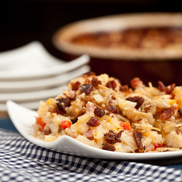 Cheesy Ham and Hash Brown Potato Casserole - Chew Out Loud