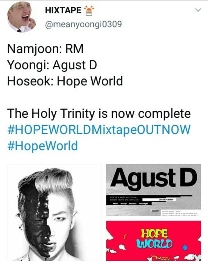 Do you see the difference between Hobi's mixtape and Yoongi's and Namjoon's?
