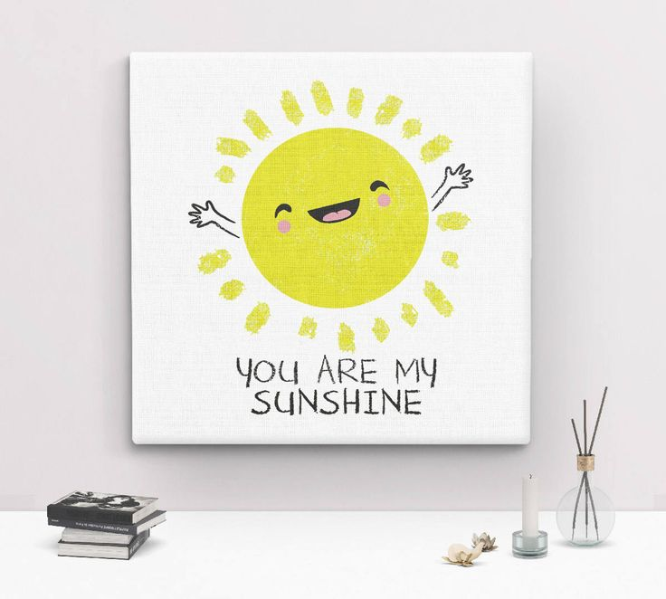 You Are My Sunshine Wall Art, canvas art print, nursery wall art, kids room wall decor, nursery art canvas, yellow nursery decor cute canvas by BootsTees on Etsy https://www.etsy.com/listing/546671708/you-are-my-sunshine-wall-art-canvas-art