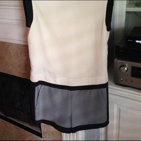 Ted Baker jumper pale pink and grey Ted Baker one piece shorts jumper. New with tags. Never worn. Comes with TB zipper clothing bag. Ted Baker Dresses Mini