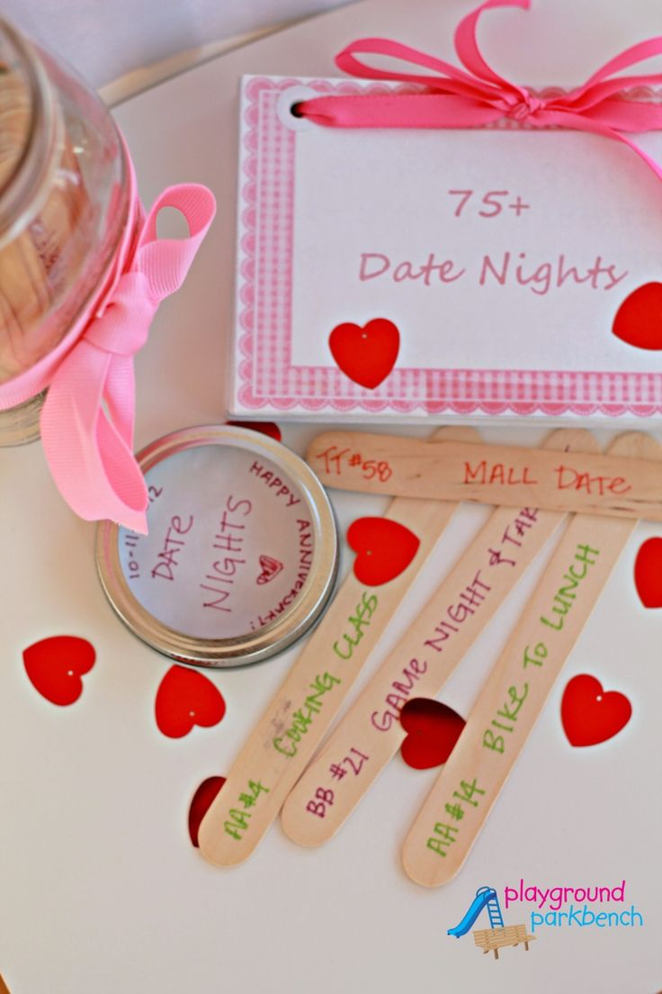 Dates for a date night jar and anniversaries