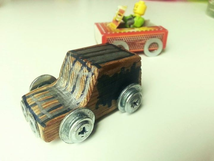 Toy car made with my 4 yo boy