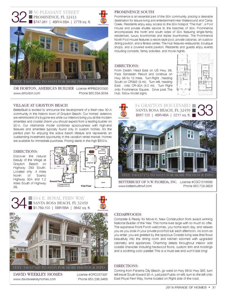 Image Result For Parade Of Homes By Emerald Coast Marketing