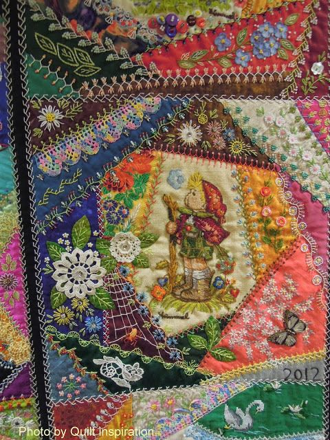 "Quilt Inspiration: The Advent of Christmas Day 16: Little Darlings by Gerlinde Hruzek. I've seen this quilt ""in person."" It is totally breath-taking!"