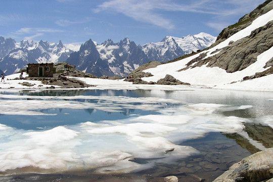 Massif des aiguilles Rouges , le Lac Blanc (Haute-Savoie)