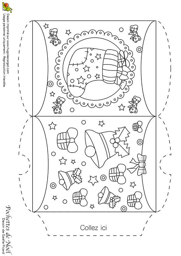 201 best coloring pages christmas images on pinterest - Dessin d une cloche ...