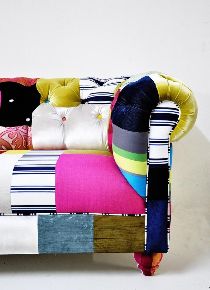 Chesterfield Patchwork Sofa 1 By Namedesignstudio On Etsy 3 200 00 Usd Via