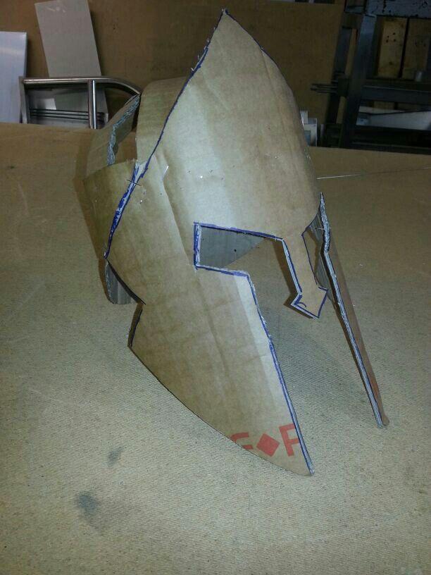 Making a trojan helmet baby!!!!!