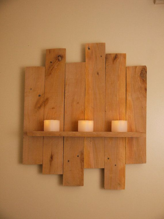Wooden Shelf. Pallet Wall Art. Rustic Industrial by TheWoodForgeCo