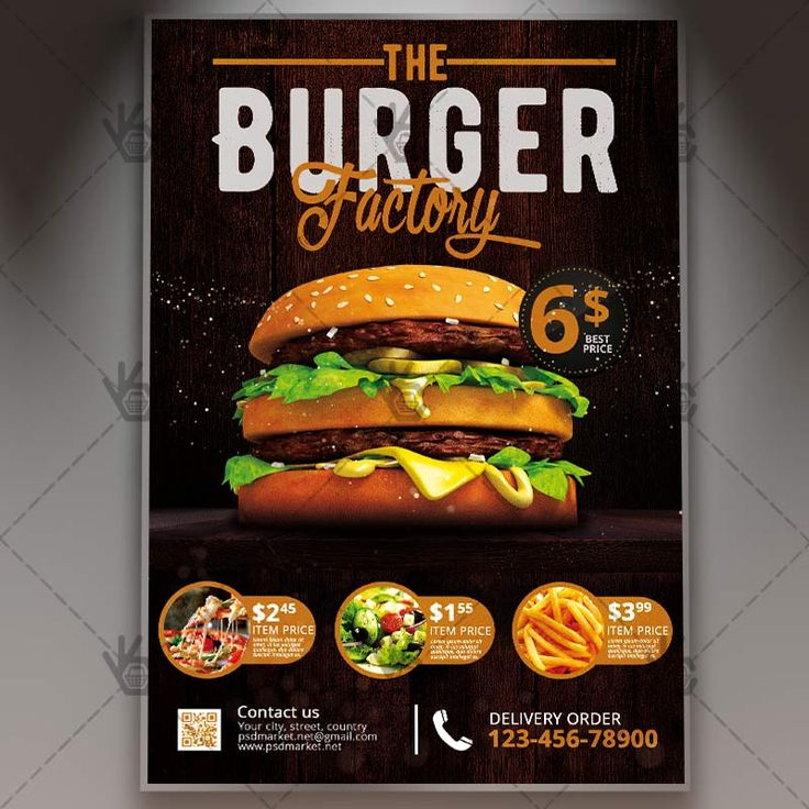 Burger Factory - Premium Flyer PSD Template.  #bar #beef #beer #burger #burn #cheeseburger #chicken #cooking #country #dinner #drinks #fastfood #festival #fire #food #frenchfries #fries #grill  DOWNLOAD PSD TEMPLATE HERE: https://www.psdmarket.net/shop/burger-factory-premium-flyer-psd-template/  MORE FREE AND PREMIUM PSD TEMPLATES: https://www.psdmarket.net/shop/