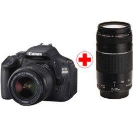 Cámara réflex Canon EOS 600D + 18-55 III + 75-300 III Media Markt