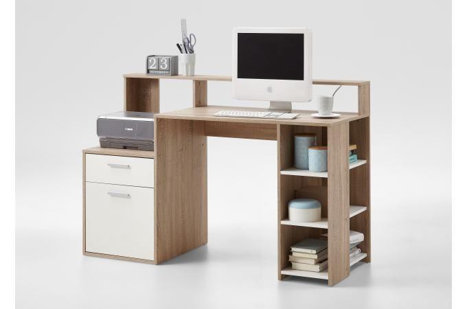 Bureau bois et blanc bureau marron bois blanc nurbl design sur