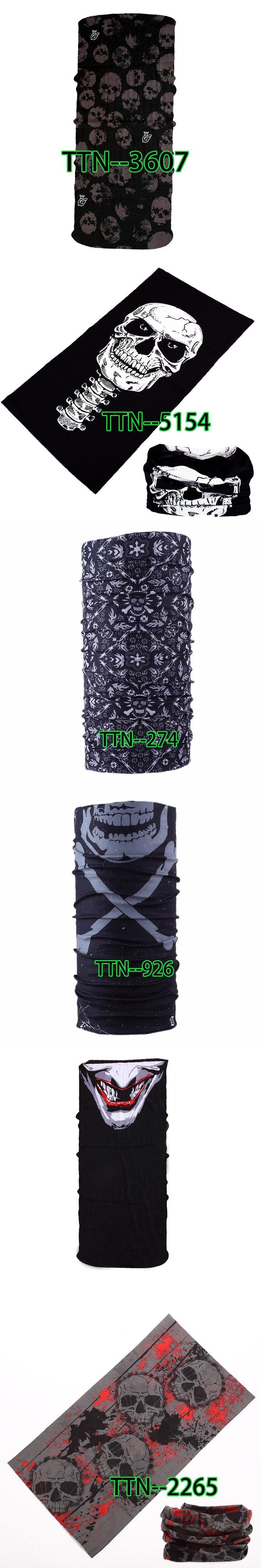 Multi-function Scarf Fashion Skull Face Masks   Headband Neck Bandana Scarf 1PCS