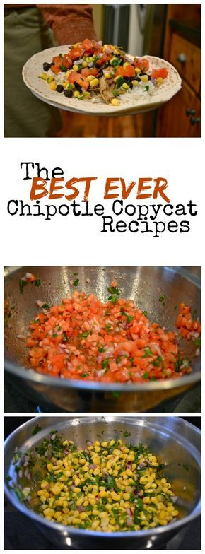 The BEST Chipotle copycat recipes: carnitas, corn salsa, mild salsa, rice