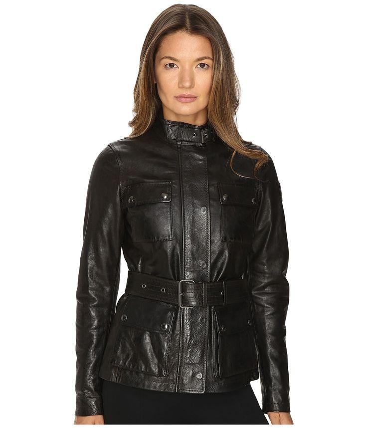 Image of BELSTAFF - Triumph 2.0 Signature Hand Waxed Leather Jacket (Black) Women's Coat