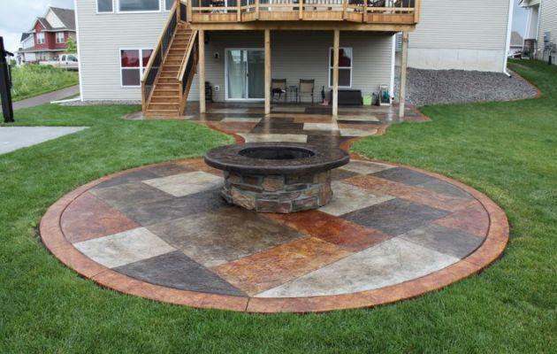 Concrete patio ideas on a budget Diy Concrete Concrete Patio Ideas Budget Landscaping Pinterest Concrete Patio Ideas Budget Landscaping Backyard Pinterest