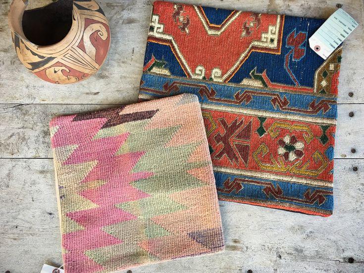 Vintage Turkish kilim pillow cover bohemian decor Southwestern throw pillow cover 18 x 18 or 14 x 14 #romaarellano