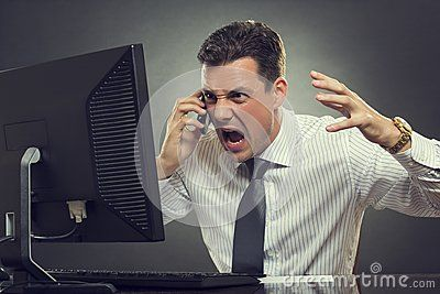 Angry Businessman Shouting On Phone - Download From Over 24 Million High Quality Stock Photos, Images, Vectors. Sign up for FREE today. Image: 41576592