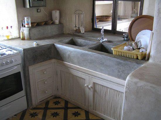 87 best kitchen concrete kitchen images on pinterest for Cement kitchen cabinets