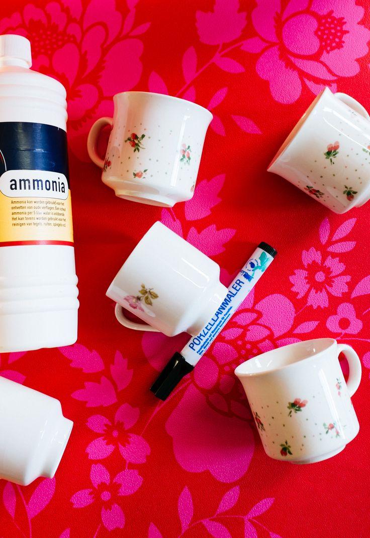 Laat de kinderen van het high tea kinderfeestje zelf hun vintage theekopjes met porseleinverf beschilderen.