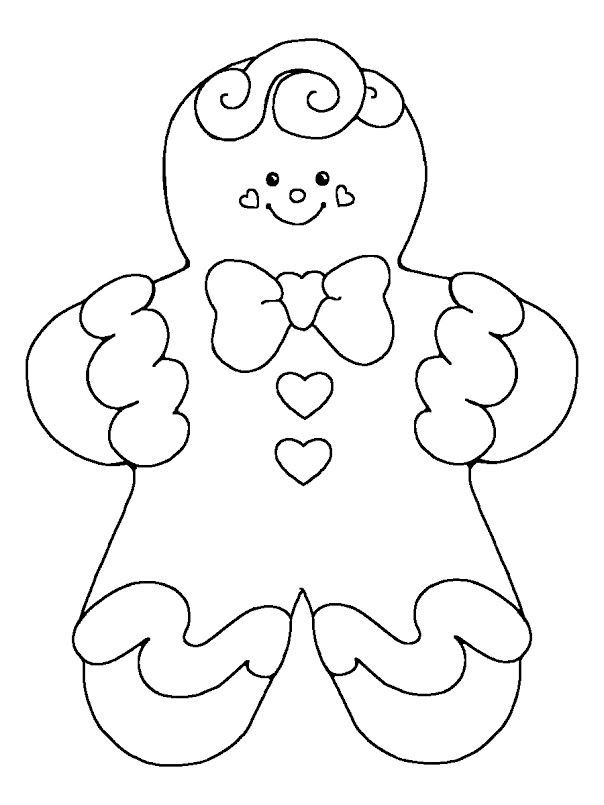 17 Best Ideas About Gingerbread Man Coloring Page On Pinterest