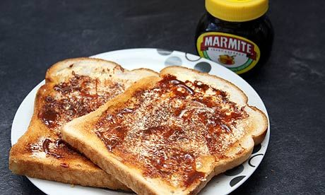 yum yum YUMMY - marmite on toast, you either LOVE it or HATE it  I HAPPEN TO LOVE IT!!!!