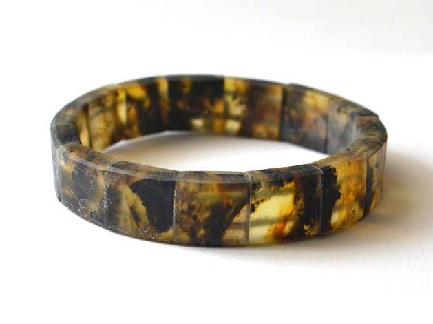 RESERVED Black Amber Men Bracelet, Mens Jewelry, Amber For Men, Masculine Dude Bracelet, Dark Night Bracelet by KARUBA on Etsy