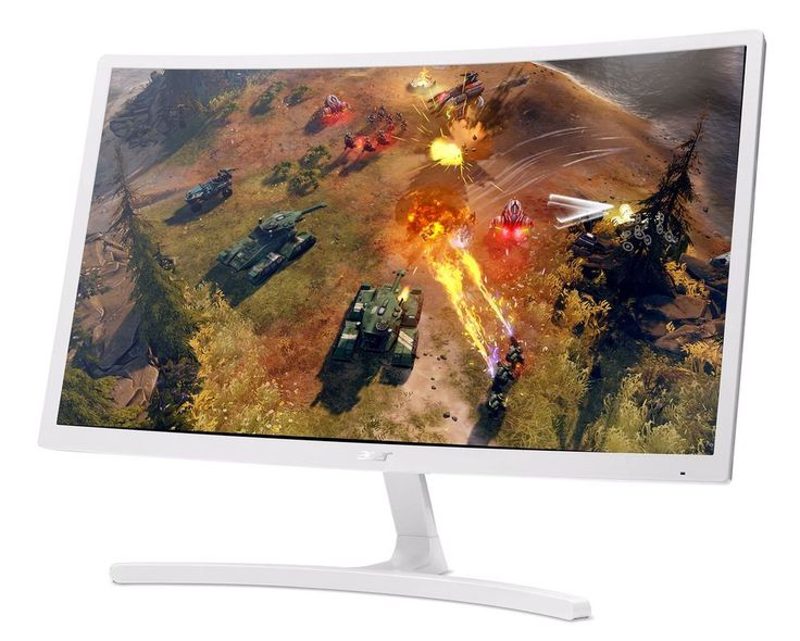 Gaming Desktop Monitor Acer 24-inch Class Curved Full HD 1920x1080 Black Friday #Acer
