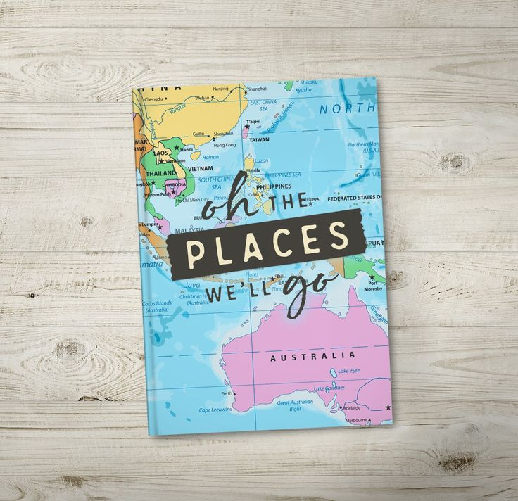 Oh The Places We'll Go. A fun and colourful travel journal. Order now from https://noordinaryemporium.com/shop/product/wild-free-travel-journal-copy/